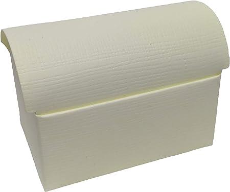 CUPIDO 50 Cajas de cartón Baúl Plegable X bomboneras Marfil 17,5 x 11 x 11,5 cm: Amazon.es: Hogar