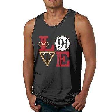 c23467e8 Amazon.com: LanZhuoq Mens Love Harry Potter Muscle Bodybuilding Black  Shirts Tank Tops: Clothing