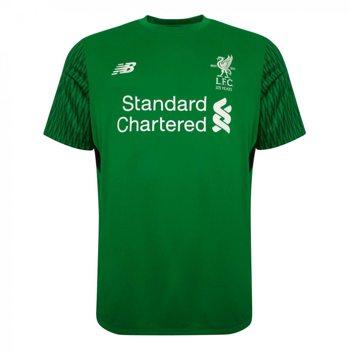 2017-2018 Liverpool Home Short Sleeve Goalkeeper Shirt (Kids) B072BZRYBG