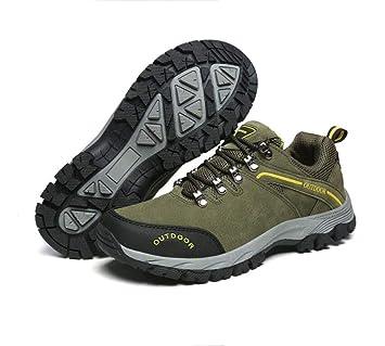 a1d2b812ff04b Amazon.com: FGSJEJ Men's Hiking Walking Shoes PU Outdoor Camping ...