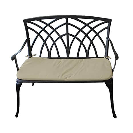 Super Charles Bentley Metal Cast Aluminium 2 Seater Garden Patio Bench Seat With Cushion Lightweight Weatherproof Gmtry Best Dining Table And Chair Ideas Images Gmtryco