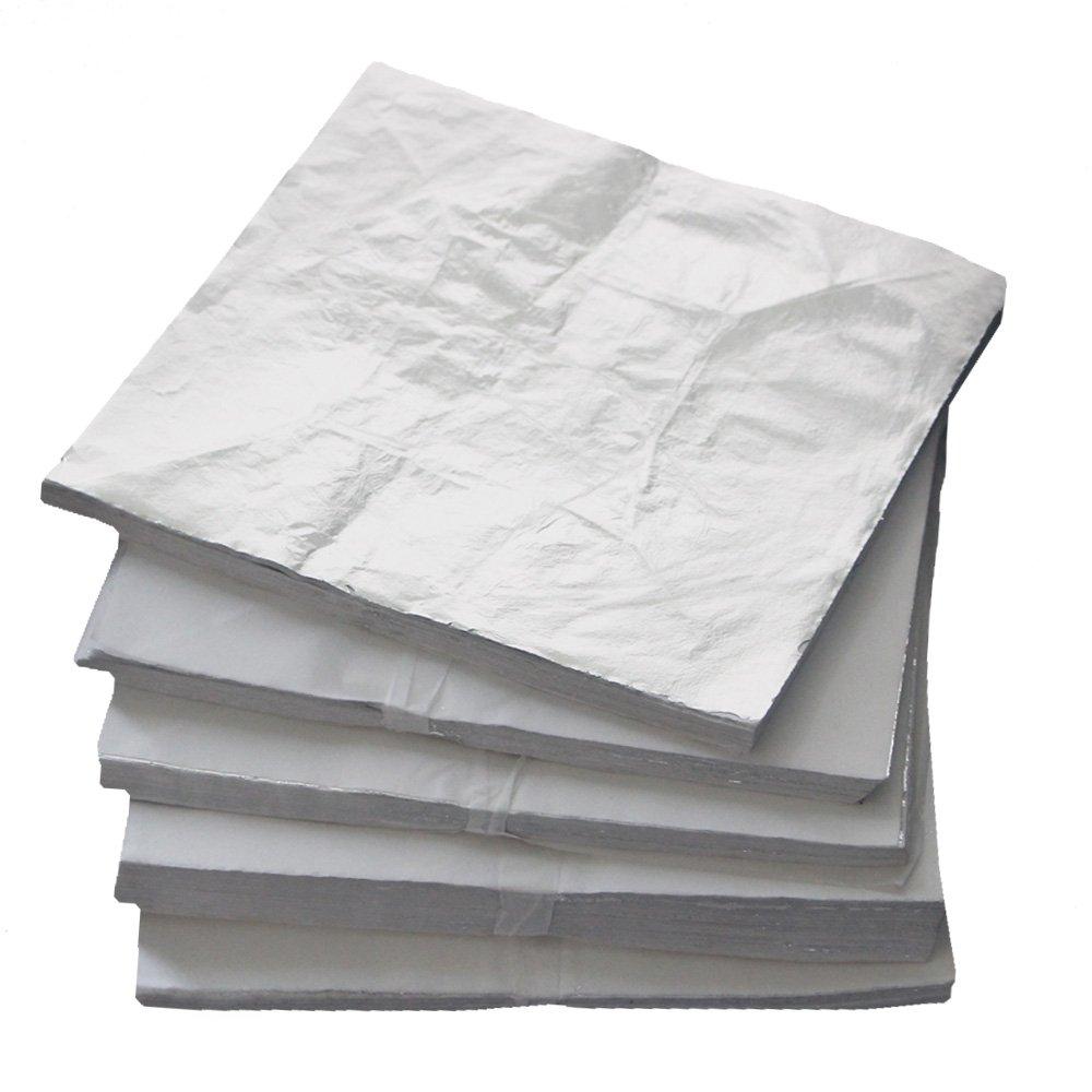 1000 sheets 16 X 16cm Imitation silver leaf gilding sheet foil aluminum leaf