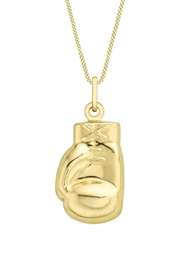 Carissima gold 9ct yellow gold boxing glove pendant on curb chain carissima gold 9ct yellow gold boxing glove pendant on curb chain necklace of 455cm aloadofball Images