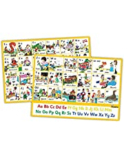 Jolly Phonics Letter Sound Wall Charts (in Print Letters)