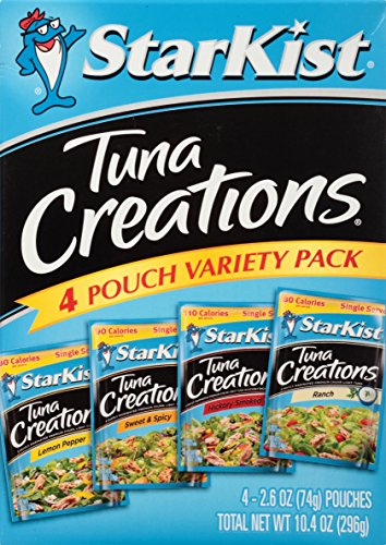 StarKist Tuna Creations Variety Pack – 2.6 Ounce Pouch, Pack of 4 (Multiple Flavors) (Fish Dinner)
