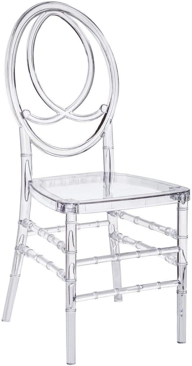 2 Chairs Modern Furniture Clear Transparent Crystal Phoenix Chair for Home Banquet Wedding Restaurant Dining Room Outdoor Hotel Hall Rental Christmas Party Office