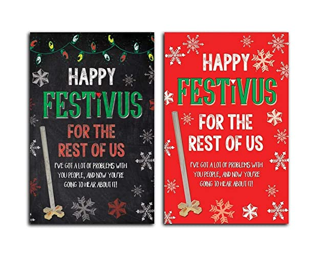 Amazon seinfeld festivusfor the rest of us holiday 5x7 cards seinfeld festivusquotfor the rest of usquot holiday 5x7 cards m4hsunfo