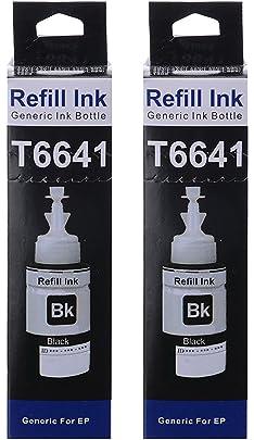 Skrill T6641 Ink for Epson Printers  Black  Pack of 2