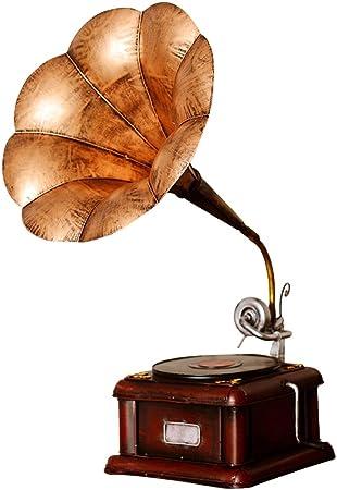 DECORACIÓN MMM- Antiguo Modelo de fonógrafo, Tocadiscos de Vinilo Adornos Vintage Modelo de Hierro Props Bar hogar de Regalo (Color : #1): Amazon.es: Hogar