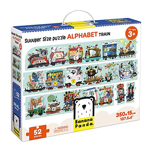 (Banana Panda Alphabet Train Suuuper Size Puzzle for Kids Ages 3 Years & Up)