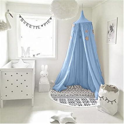 pu/ò essere utilizzato come tenda da gioco come decorazione per la camera da letto o come protezione dagli insetti UltraGood Baldacchino da letto per bambini con drappo in cotone