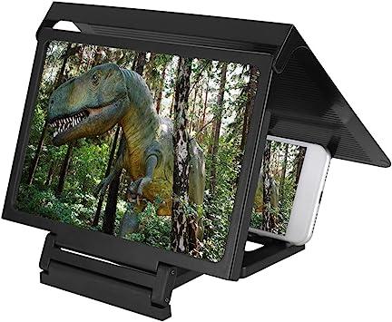 Bildschirm Vergrößerung Lupe,Premium 3D Video HD Bildvergrößerung Lupe Smartphone Screen Lupe,Tragbar Mobile Phone Screen Projection Magnifier mit Halter für Kinder Geschenk: Amazon.es: Electrónica