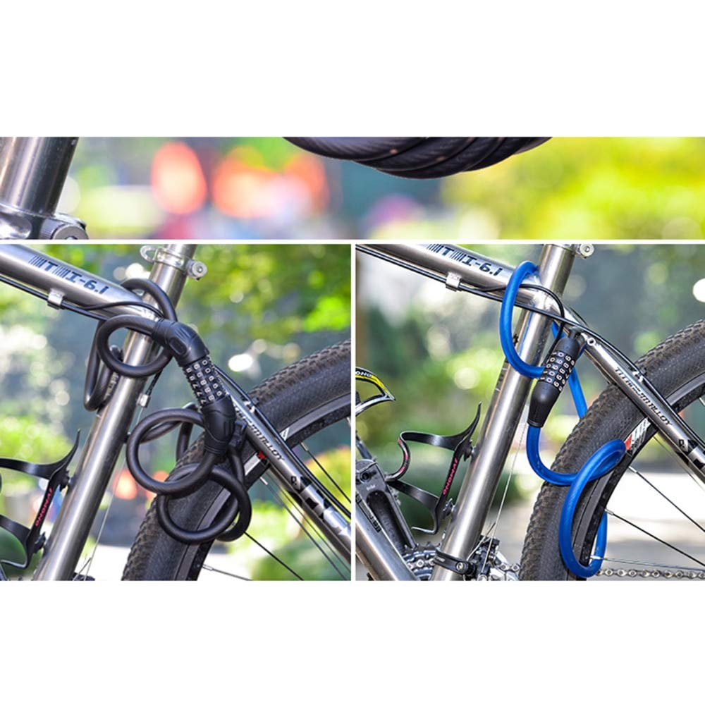 KathShop Mountain Road Code Bicycle Password Lock Anti-Theft Electric Password Easy Security Steel