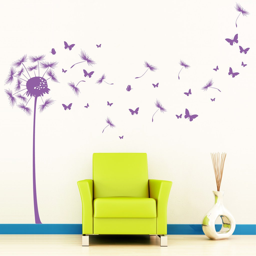 wandtattoo pusteblume schmetterling reuniecollegenoetsele. Black Bedroom Furniture Sets. Home Design Ideas