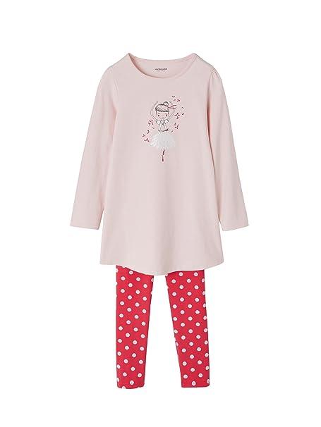 VERTBAUDET Camisón + Leggings para niña Rosa Claro Liso con Motivos 2A: Amazon.es: Ropa y accesorios