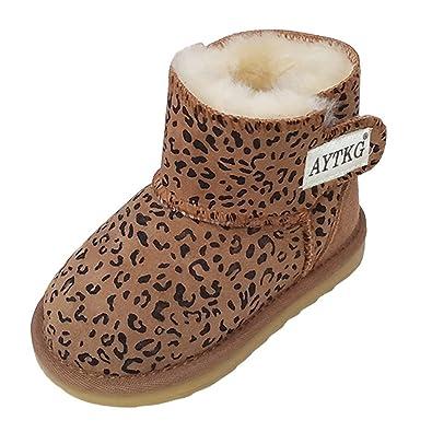 7a4455a77375b Evedaily - Bottes de Neige pour Enfant Bébé Chaudes et Souples En Hiver  Chaussures Fille Garçon