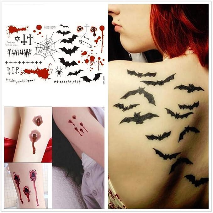 Tatuajes temporales para hombres adultos Mujeres Ni?os (4 hojas ...
