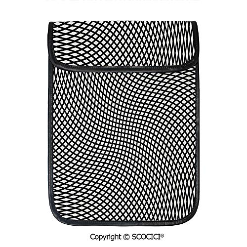 (SCOCICI Protective Storage Carrying Sleeve Case - Minimalist Design with Little Wavy Square Shaped Cubic and Rotary Distortion Compatible with 12.9 Inch iPad Pro)