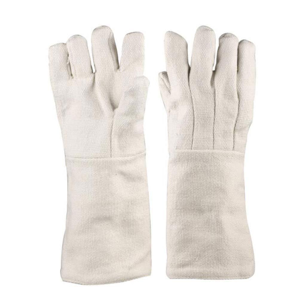 Fanfan Keramik Faser Beständigkeit Auf 1000 Grad Isolier Handschuhe Industrie Hitzebeständige Experimentelle Schutzhandschuhe Feuerfeste Handschuhe