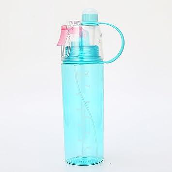 Xixik Botella 600 ML con Niebla caño Seguro Eco Friendly plástico Botella de Agua Deportes Botella