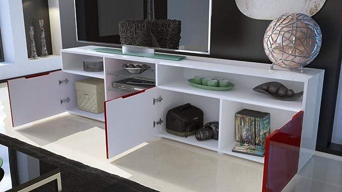 Credenza Moderna Modello Lecce : Mobile porta tv credenza madia mozart art bianco nero lucido