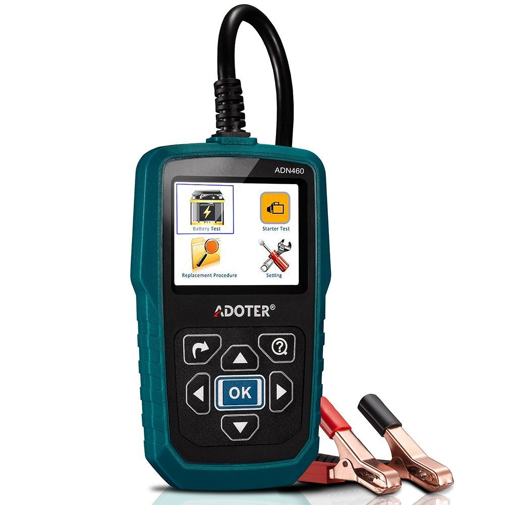 Adoter ADP460 12V/24V Battery Load Tester,100-2000 CCA Battery Load Tester Car Battery Checker for Heavy Duty Truck, Car, Mini Van, Light Duty Vehicle by Adoter (Image #2)