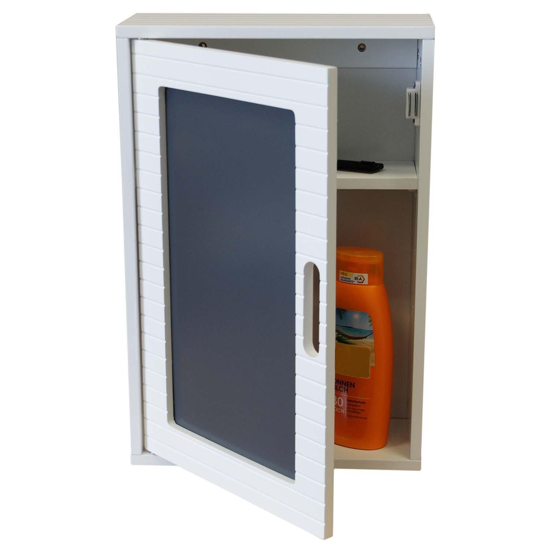 Multistore 2002 Armadietto da parete 48x 32x 13cm bagno armadietto pensile con anta armadietto per bagno e corridoio