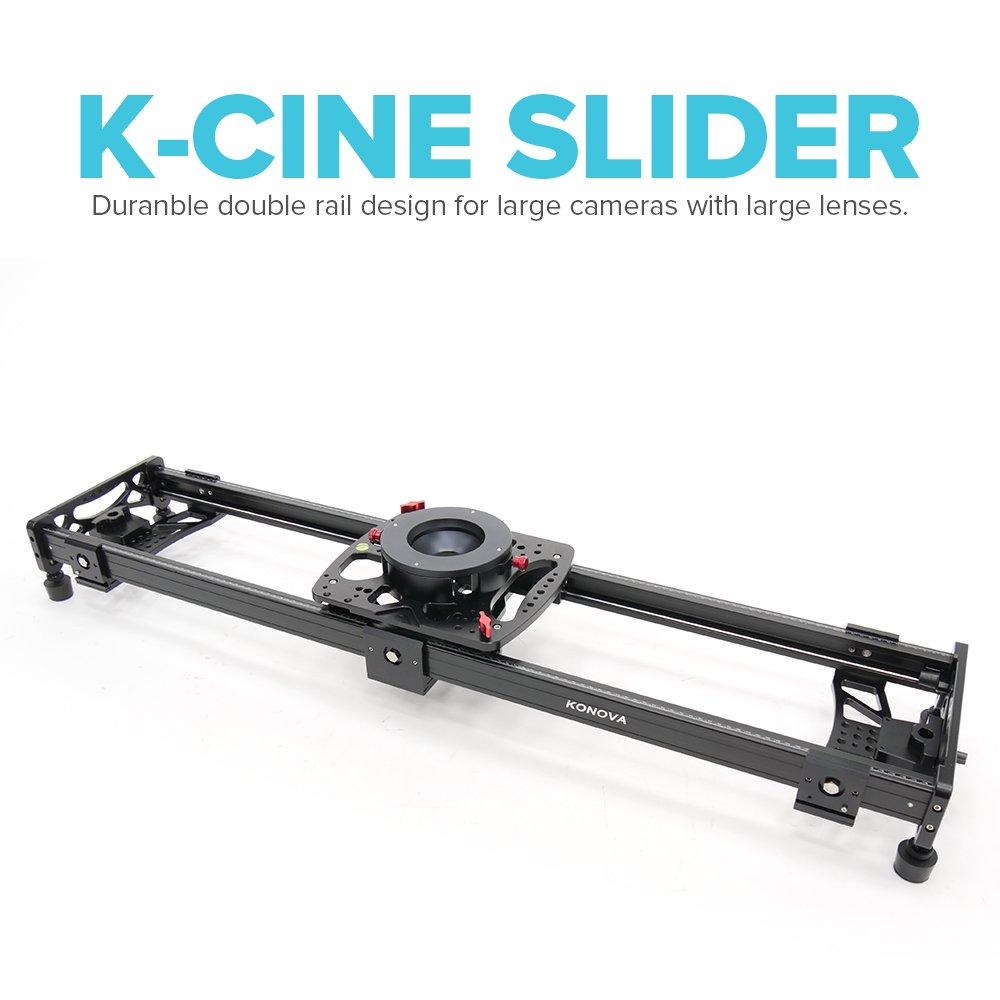 Konova K Cineスライダ120 cm ( 47.2インチ) for Largeカメラwith LargeレンズLike Arriと赤カメラ   B00ZCC4EVC