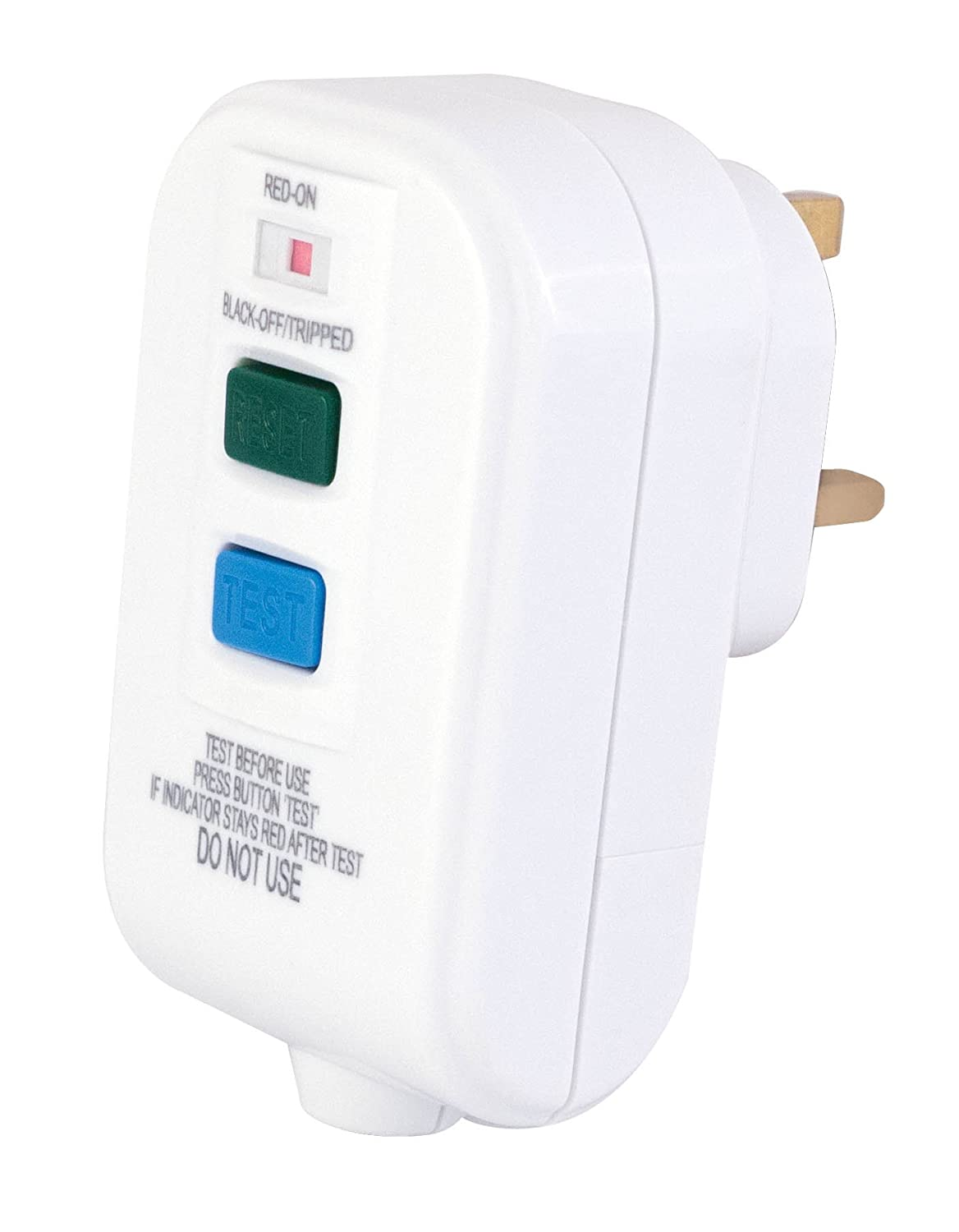 13 Amp White Rcd Re Wireable Plug Passive Latching Top Bs1363 Stevenson Plumbing Electrical Supplies Diy Tools