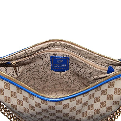 Piero Guidi borsa donna tracolla con catena Pg Monogramma blu - 6104D3088.P6