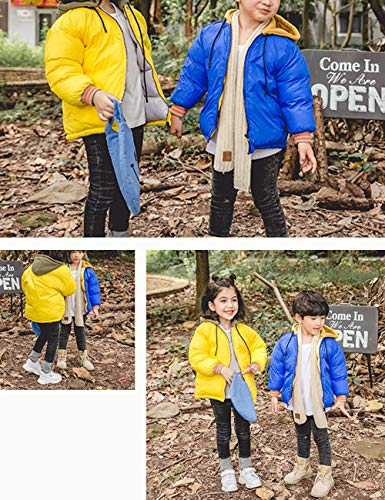 Children Girls Casual Cotton Jackets Yellow Jacket Outerwear Zipper Hooded Kids Daily Wear Boys BESBOMIG Coats Durable TpxAz