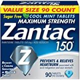 Zantac 150 Maximum Strength Tablets, Cool Mint, 90 Count