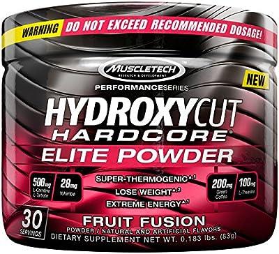 Hydroxycut Hardcore Elite Powder Fruit Fusion, 30 Servings, 72 Grams