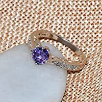 Phetmanee Shop Size 6-10 Womens Purple Amethyst Crystal Engagement Ring 10Kt White Gold Filled (8)