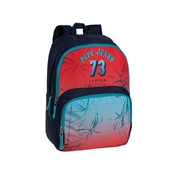 Pepe Jeans 64325A1 Dario Mochila Escolar, 21.6 Litros, Color Rojo: Amazon.es: Equipaje