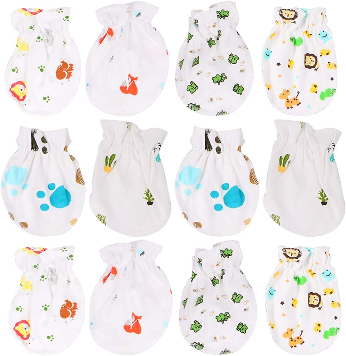 KESYOO 6 Pairs Baby Anti Scratching Gloves Newborn Face Protection Cotton Scratch Mittens No Scratch Mitts for Newborn Infant Baby Random Style