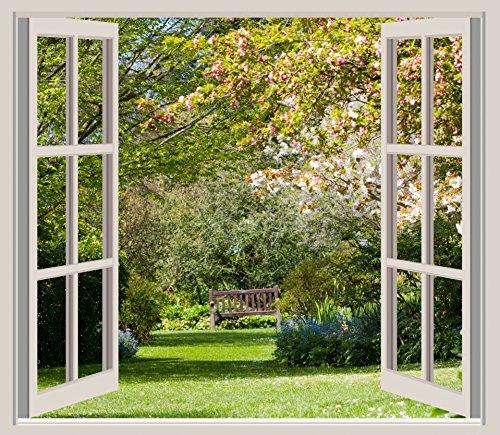Home Comforts LAMINATED POSTER Spring Garden Window Frame Vi