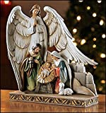 Nativity with Angel Figurine, 8'' H.