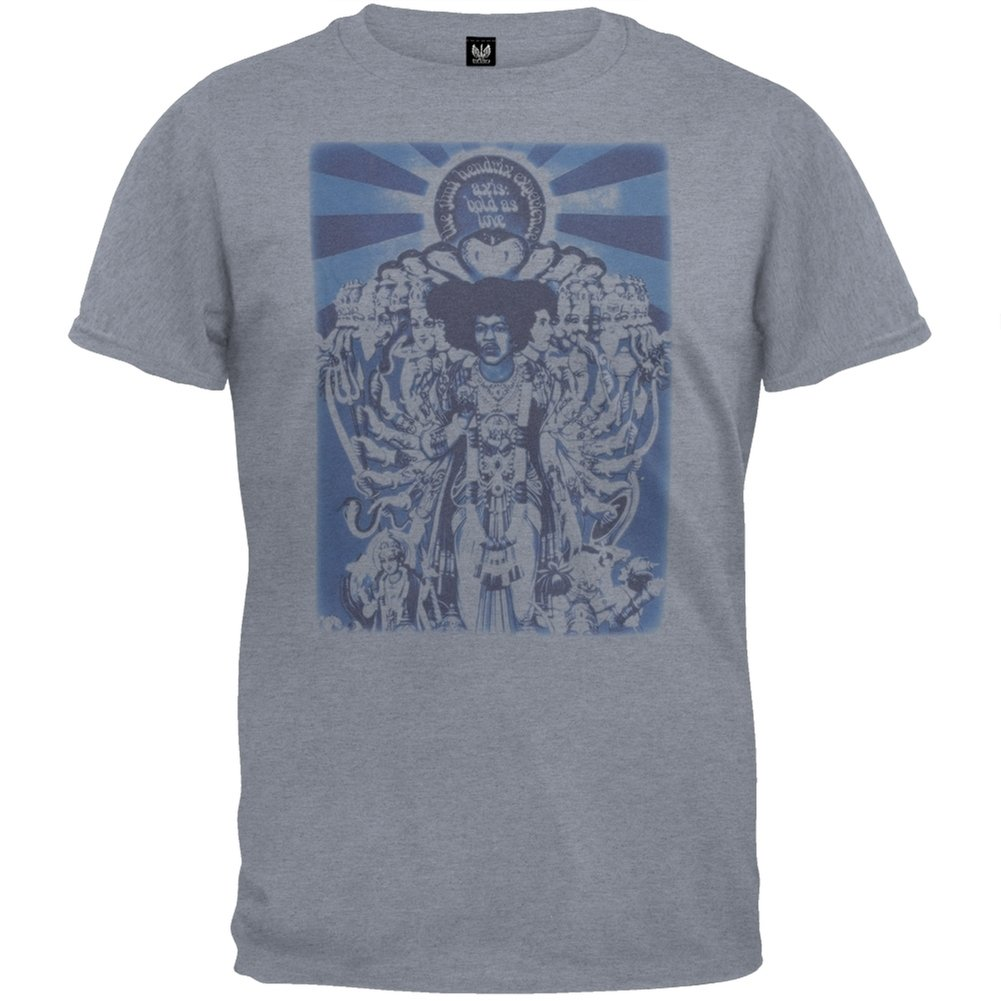 Jimi Hendrix - Mens Bold As Love Soft T-shirt Large Bluish Grey by Old Glory (Image #1)