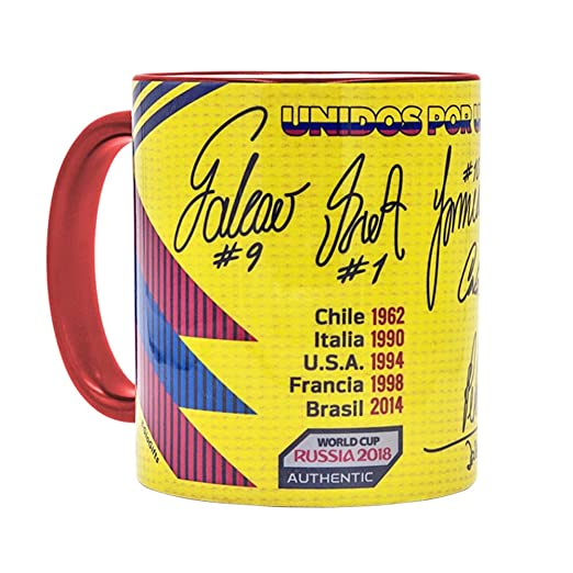 Amazon.com: Gio Gifts Colombia Mug Soccer Coffee/Tea Mugs & Cups 11Oz Collectible: Kitchen & Dining