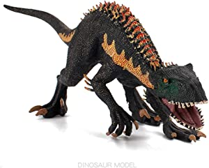 Dinosaur Toy, Jurassic Indominus Rex Action Plastic Figures Christmas and New Year Gift Collector, Home Decoration, Party Favor (Black)