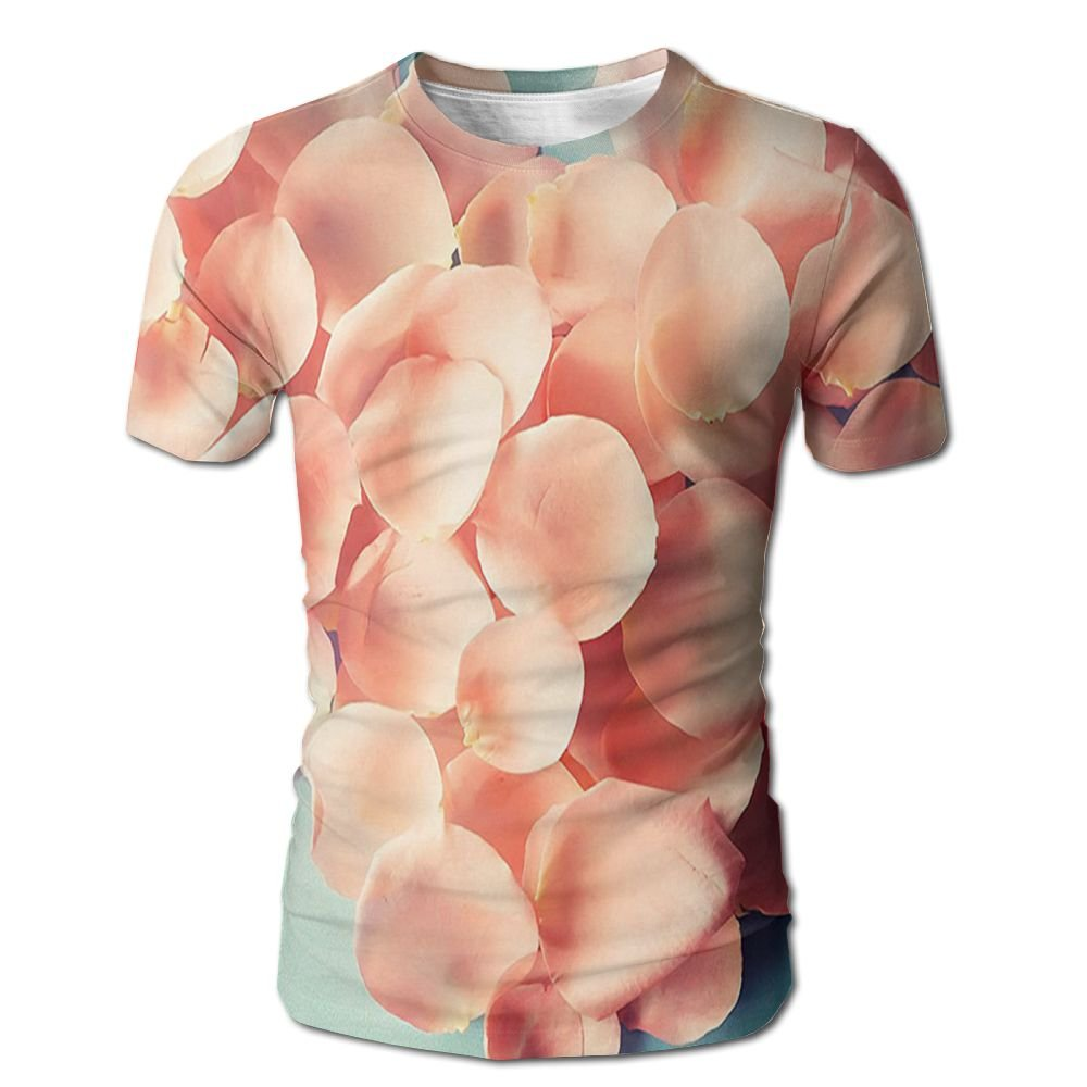 Edgar John Heart Shaped Floral Petals Valentines Mother Wedding Day Sweet Still Life Icon Men's Short Sleeve Tshirt XXL