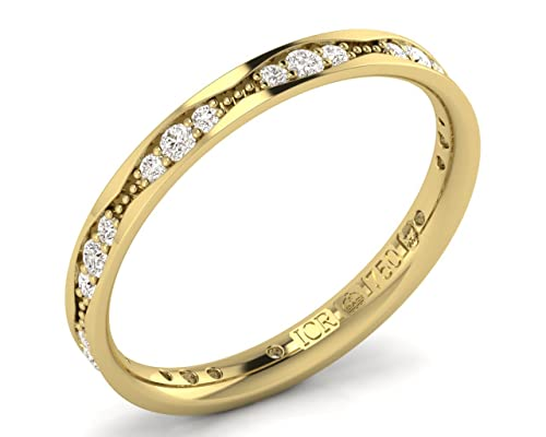 finediamondsrus oro amarillo 18 quilates (750) Round Brilliant and Baguette Cut blanco raro +