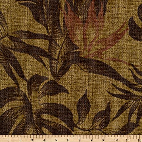 (Robert Kaufman Kaufman Sevenberry Island Pardise Barkcloth Olive Fabric by The Yard)