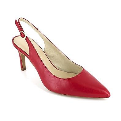 J.bradford Escarpin  Cuir JB-GALA rouge Rouge - Livraison Gratuite avec  - Chaussures Escarpins Femme
