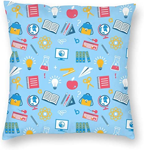 334 Education Seamless Throw Pillow Case Cushion Cover Square Animal Pillow Covers Home Decor Home Kitchen