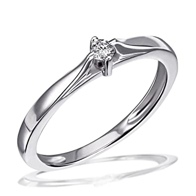 925 Sd Bague Diamant Carats Goldmaid T58 0 07 Argent zUSMpGqV