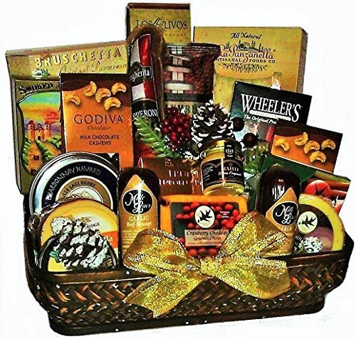 Holiday Gatherings Cheese & Pepperoni Gift by Goldspan Gift Baskets