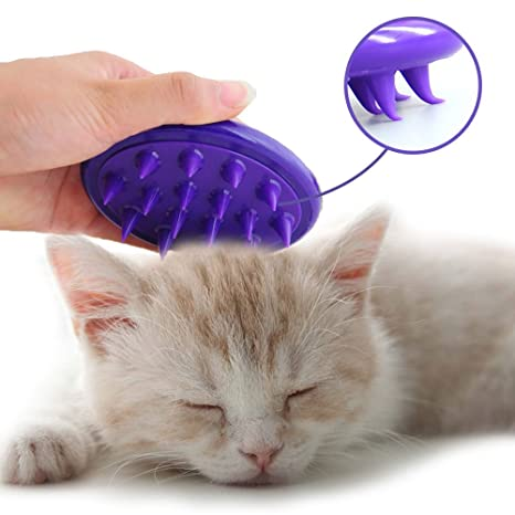 Cepillo para gatos Lavado de silicona ultra suave Lavado de gatos Regalado Baño de masaje Cepillo