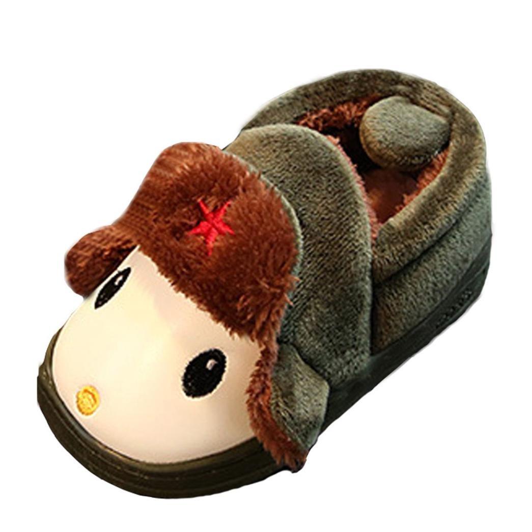 Amiley Cute Sweet Toddler Bow Baby Girls Boys Plush Soft Sole Non-Slip Warm Velvet Snow Shoes